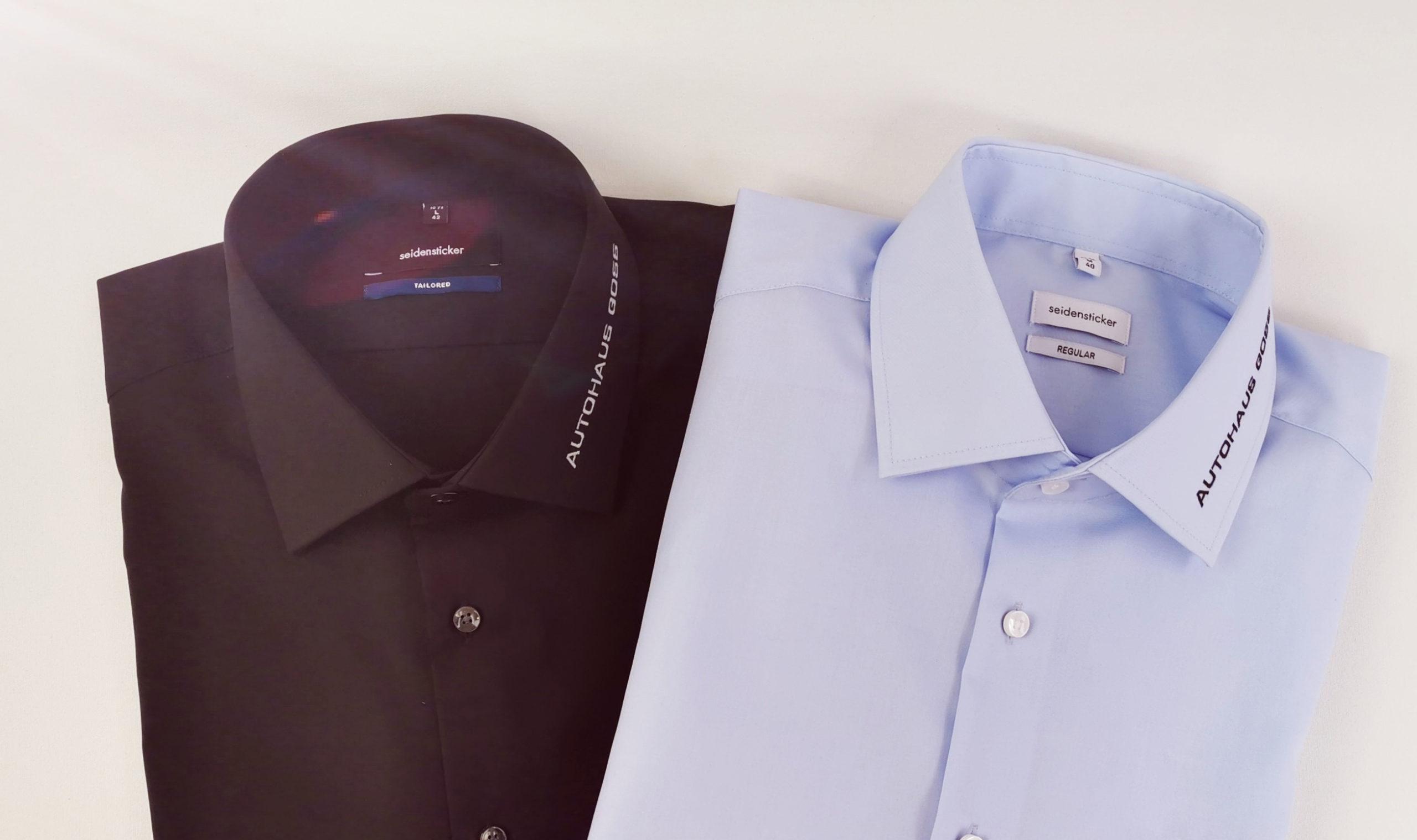 Goss Hemd schwarz und hellblau